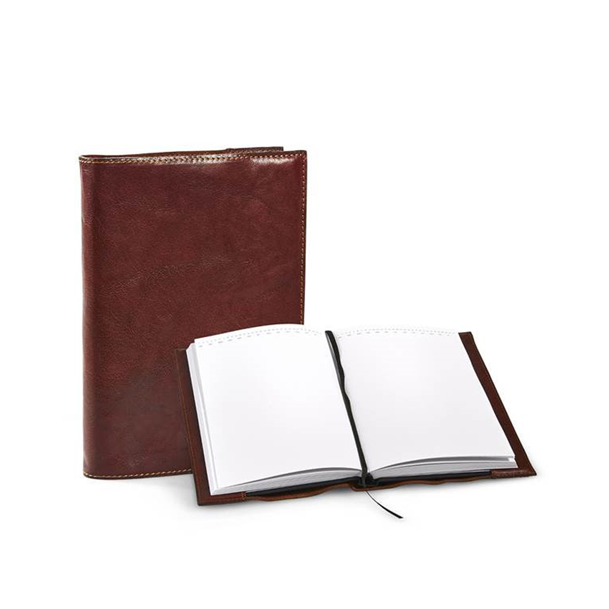 Exclusive notebook with blank pages. Book cover of waxed buffalo leather. The book can be replaced when it is full written.