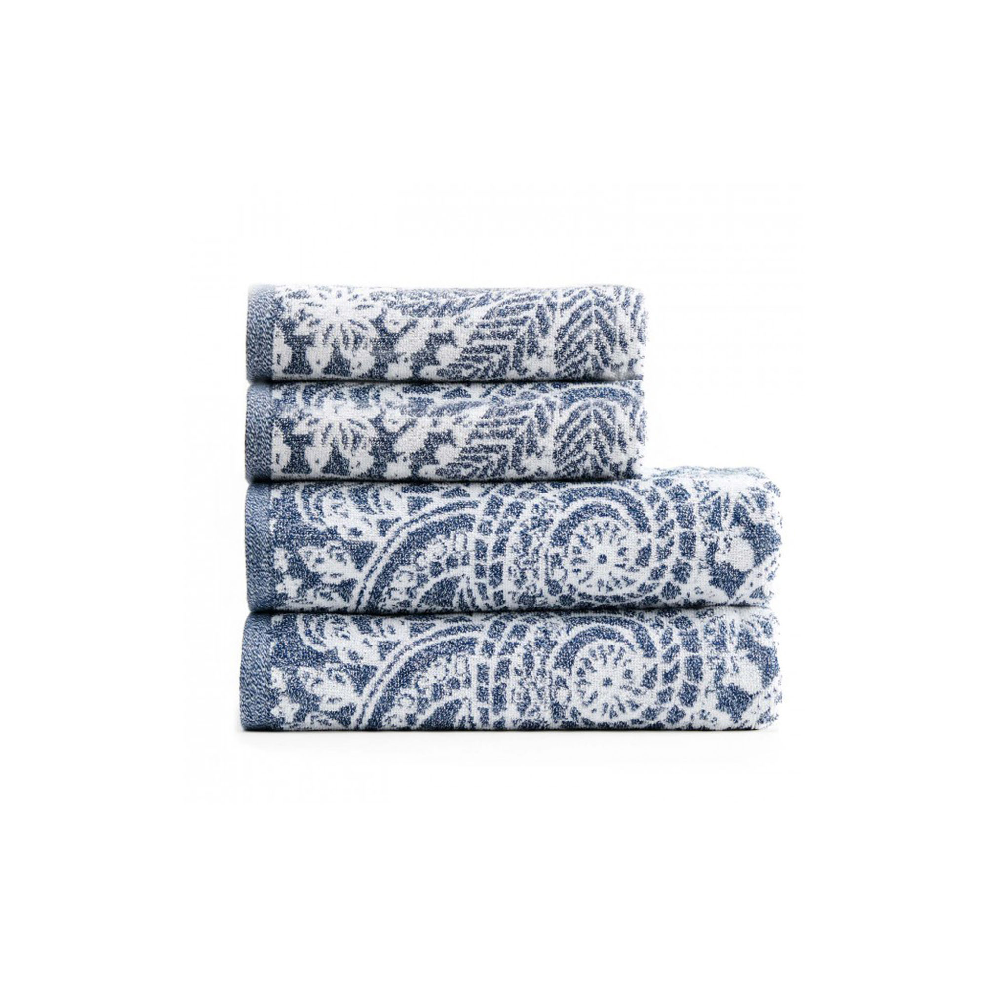Terry towels made in organic cotton with a nice pattern. The set consists of two small towels and two shower towels. Delivered in a gift box.