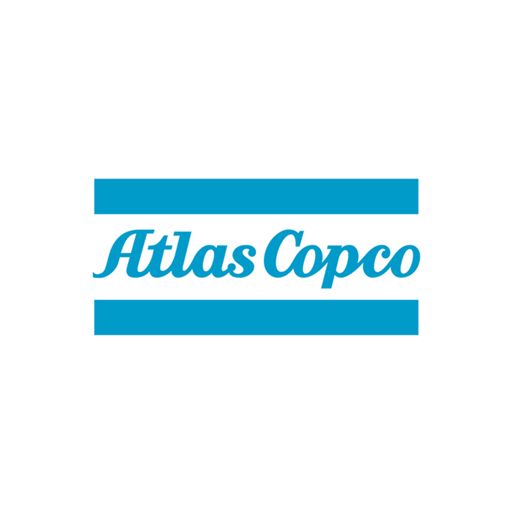 Laser cut Atlas Copco decal. Often used when branding cars, front desks and other areas where your logo shall be seen.