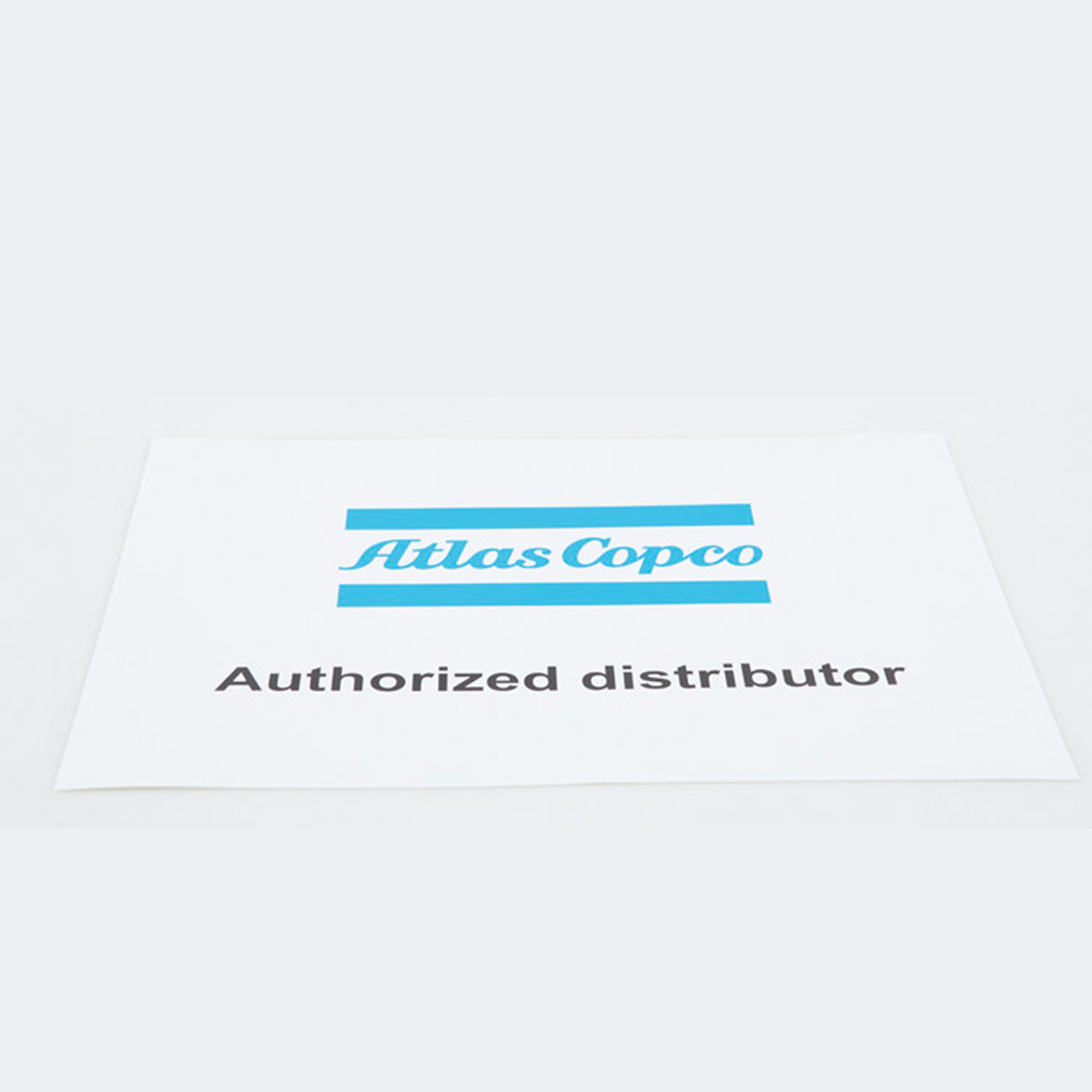 An Atlas Copco Authorized Distributor sticker.
