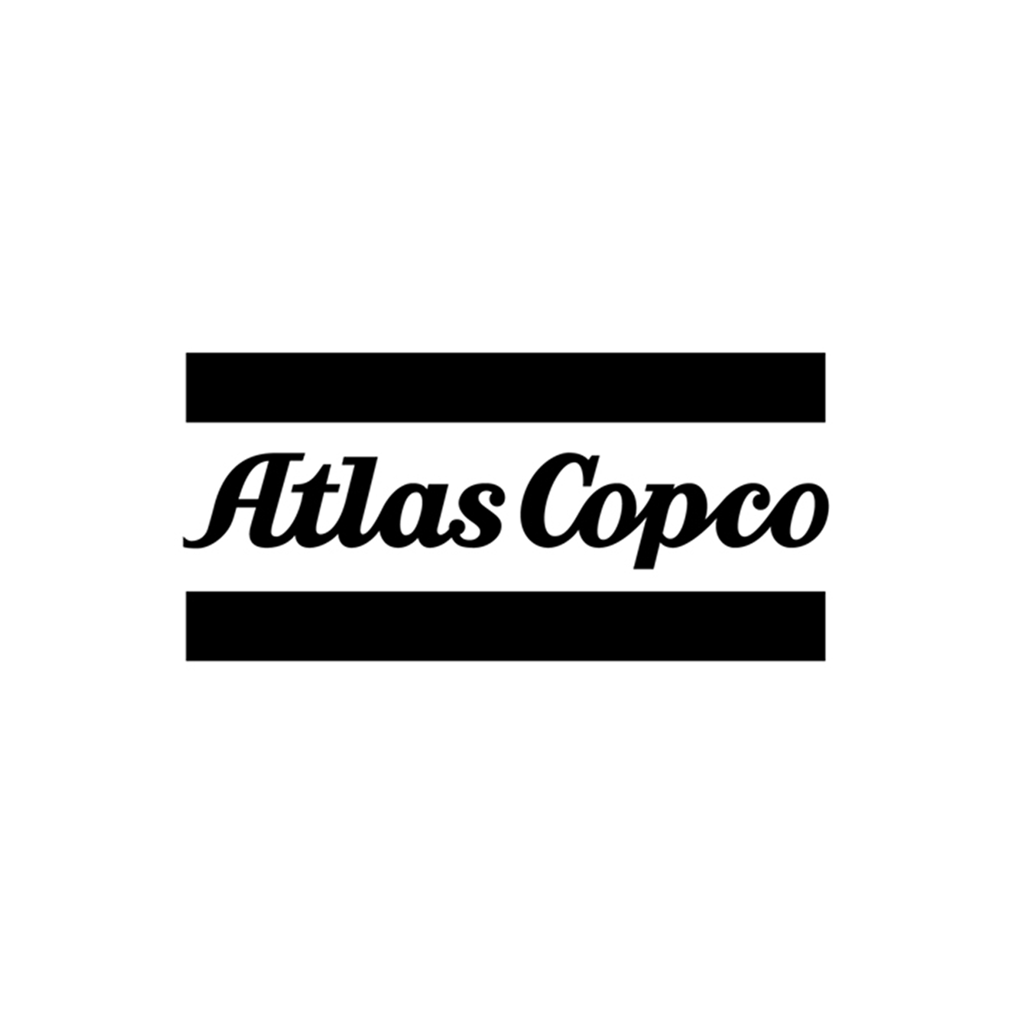 Laser cut Atlas Copco decal. Often used when branding cars, front desks and other areas where your logo shall be seen