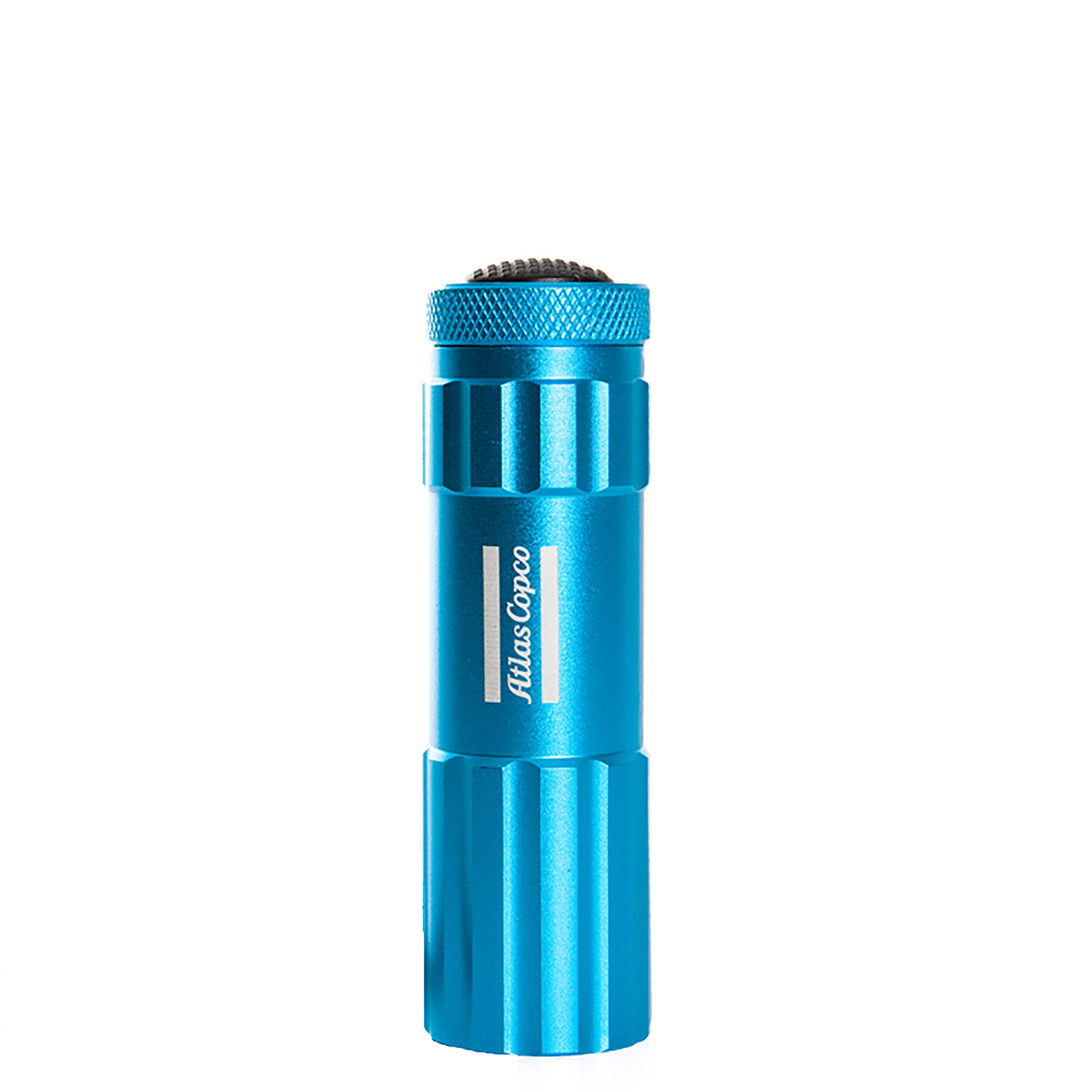 Flashlight made in one-piece aluminum with nine LED lights. The LED lights has a life span of 50 000 hours. Delivered in an Atlas Copco gift box.