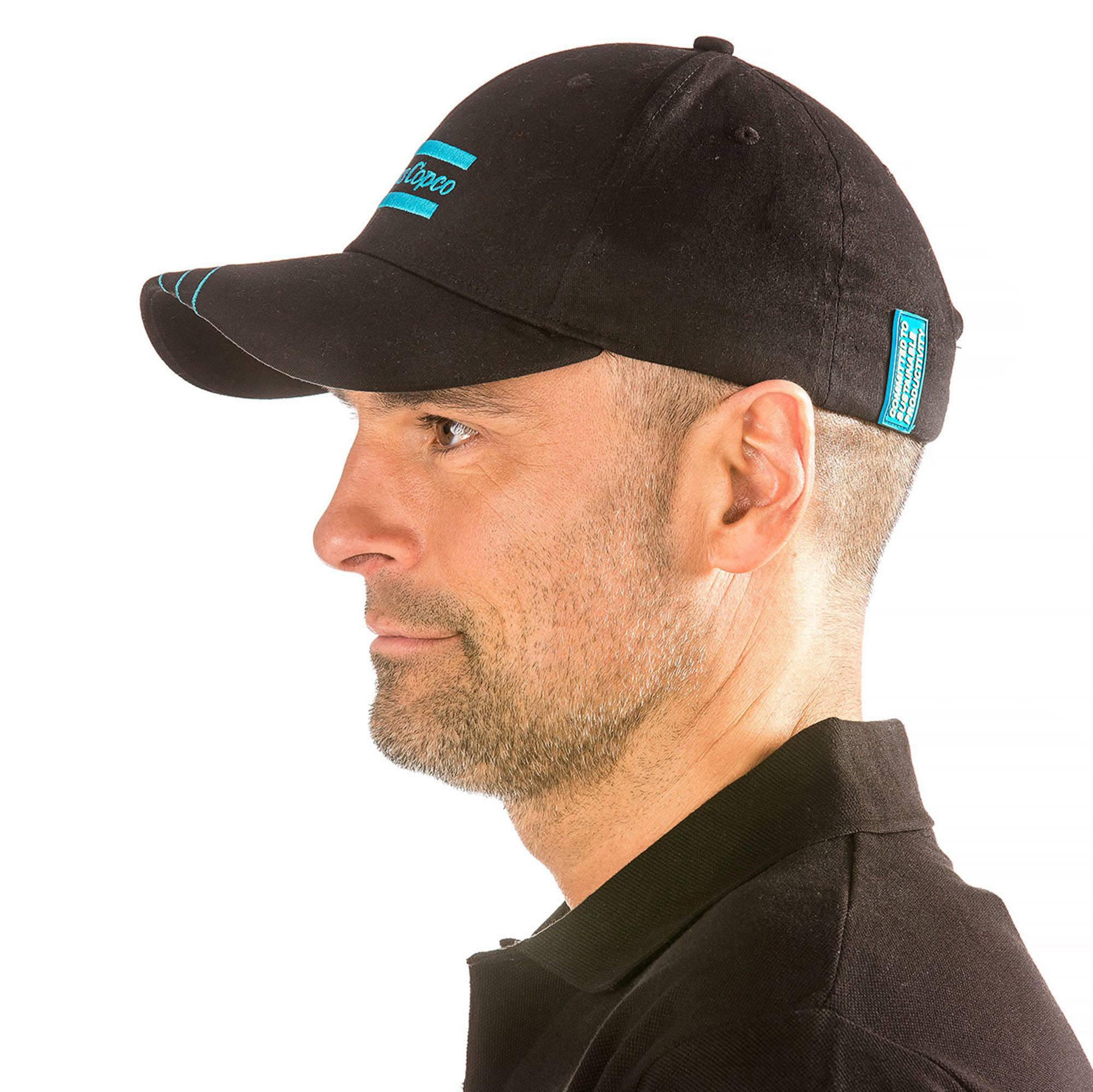 This cap has been developed to obtain the best fitting possible. The fabric is made of Cotton and Spandex which makes the cap slightly elastic. An adjustable metal buckle together with the elastic fabric makes the cap versatile. The cap has a precurved visor and six panels with air ventilation.