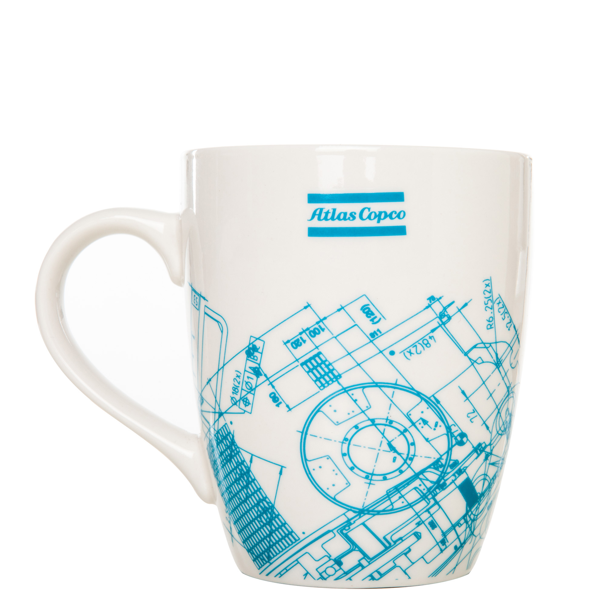 Classic white porcelain mug with all over print. The mugs are delivered in a bulk package.