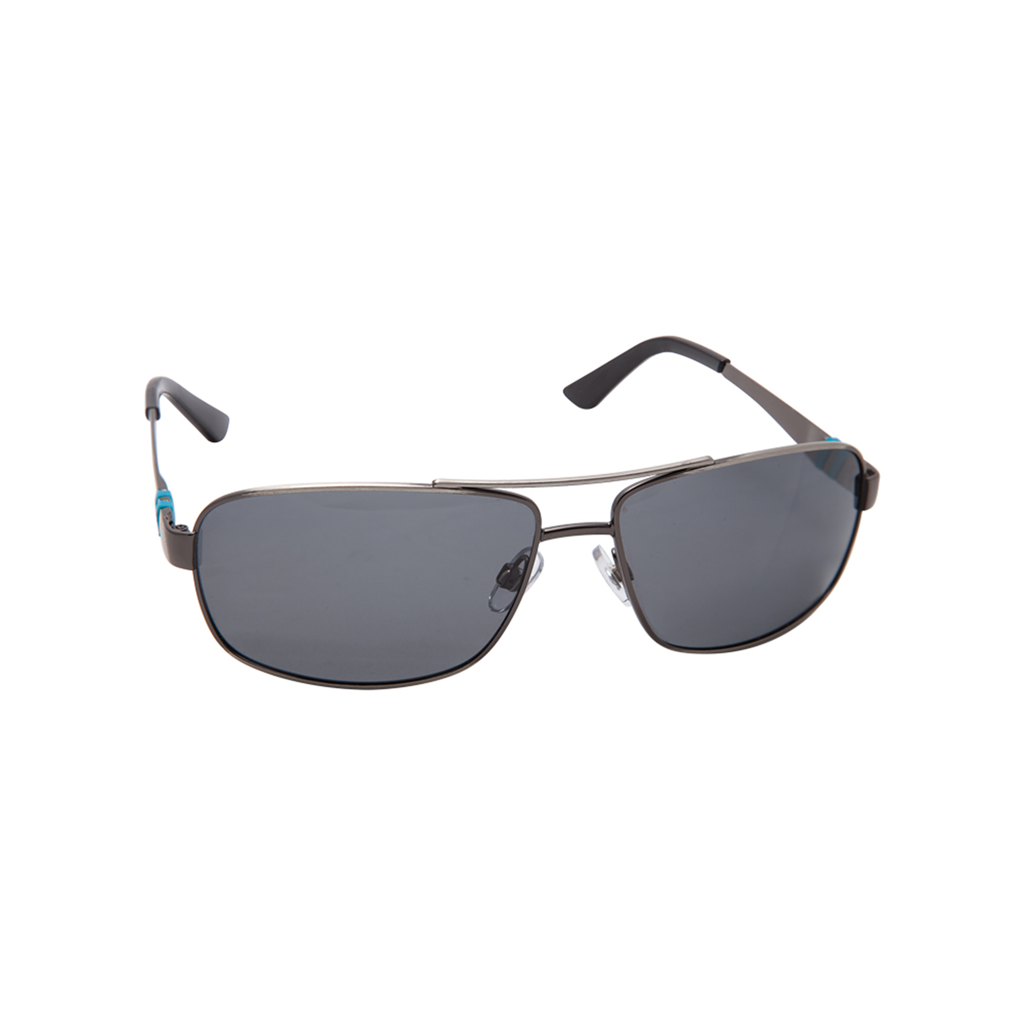 Cool looking and protective, these aviator and sport style sunglasses are comfortable to wear and they are UV 400 certified to protect your eyes. Dark grey polarized lenses subtly match the gun metal style frames and the side frame is enhanced with stylish Atlas Copco blue details in rubber.