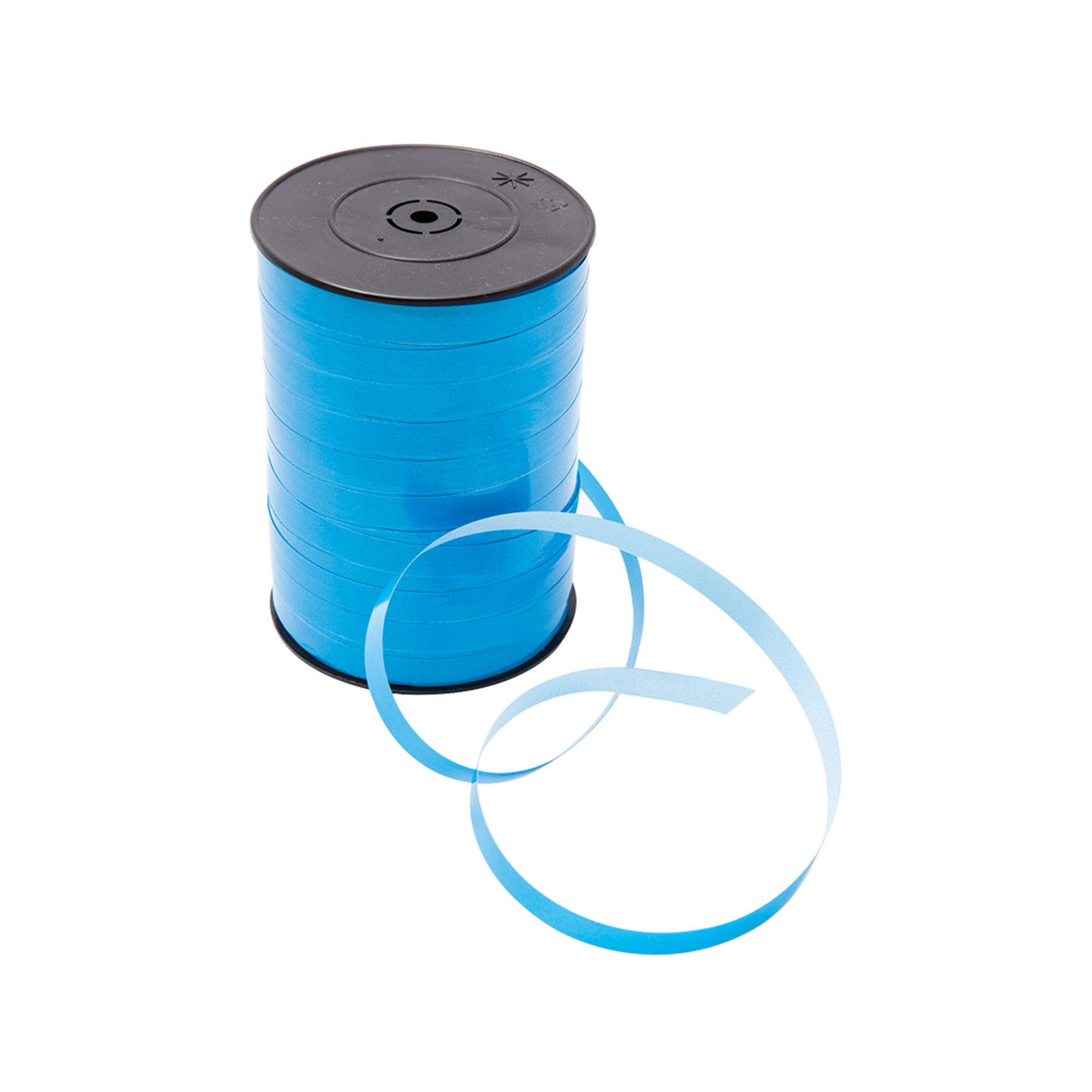 Shiny, blue ribbons to wrap around your gifts. 250 m/roll.
