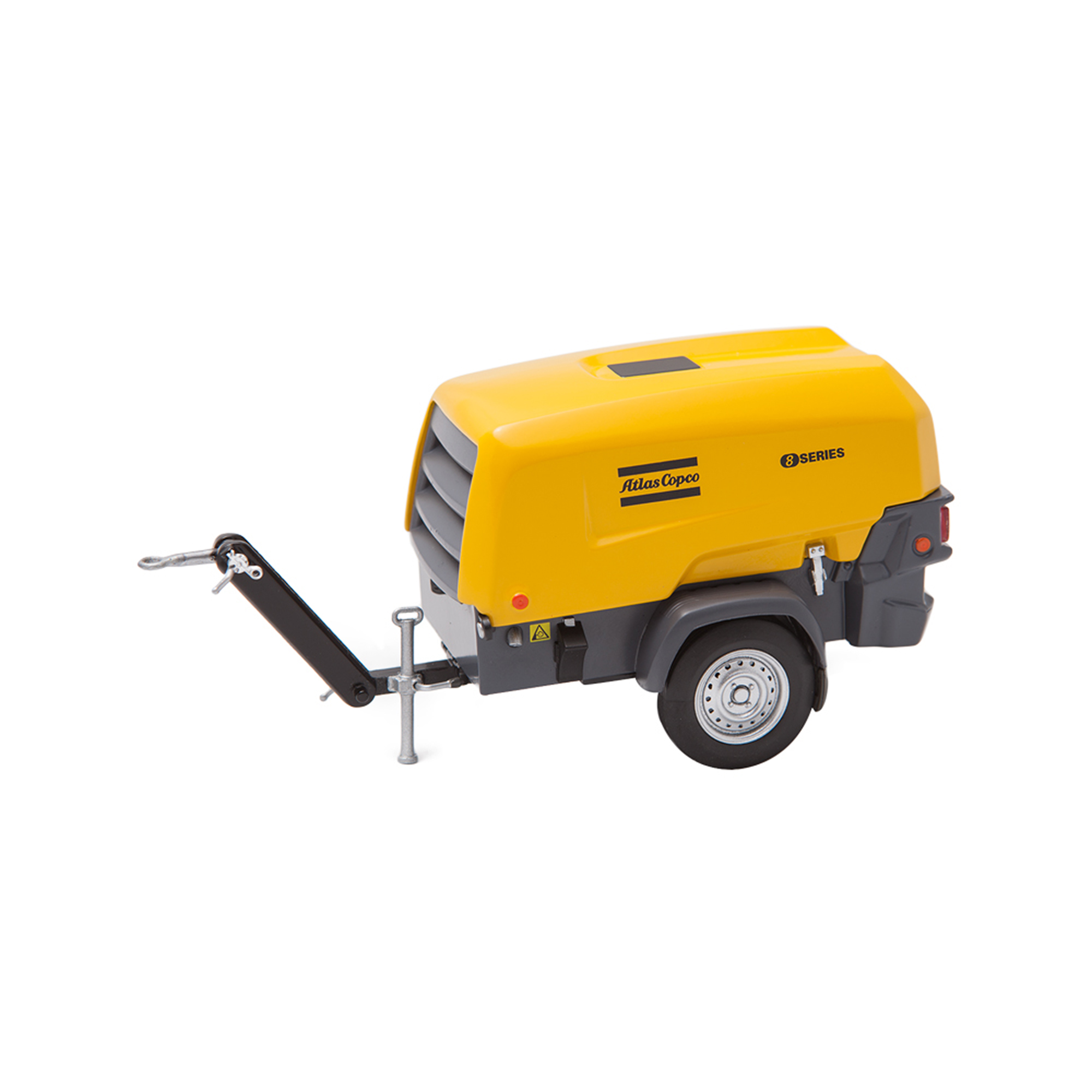 A detailed scale model of a compact and lightweight mobile compressor unit from Atlas Copco – 8 Series Compressor. Scale models are impressive in their detail and make great gifts for high-performing teams or special partner groups. They also look great as office or lobby features.