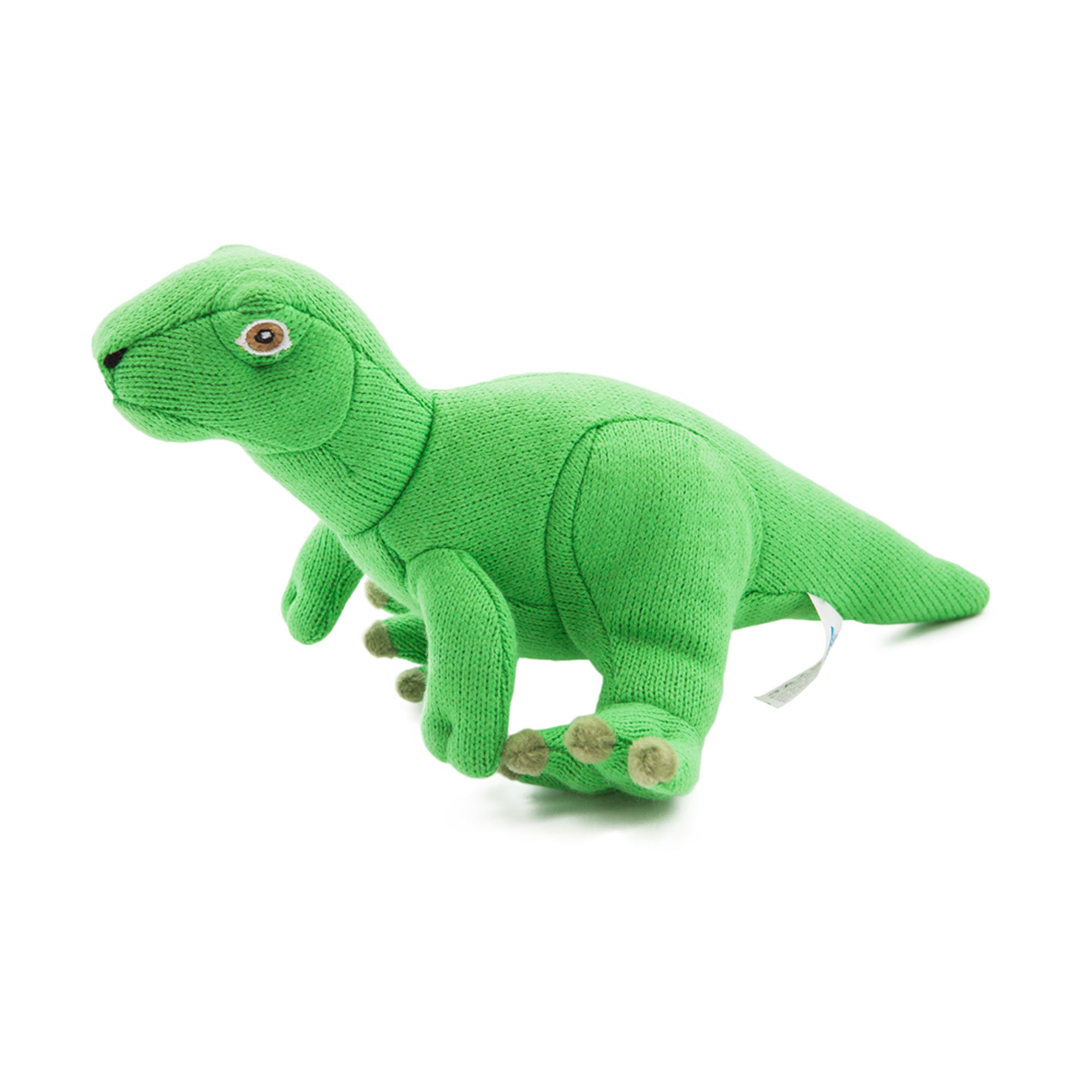 <p>A re-designed cuddly version of Atlas Copco's very own dinosaur Atlascopcosaurus Loadsi, discovered in 1984. This new version of our favorite soft toy is knitted in vibrant bright green color and will appeal to kids and anyone who likes cute and cuddly. To ensure maximum safety for children, the materials and manufacture of this item are tested and approved under according to EU Toy Safety Directive*. *Ref: EN71 1-3 och EN71 9</p>