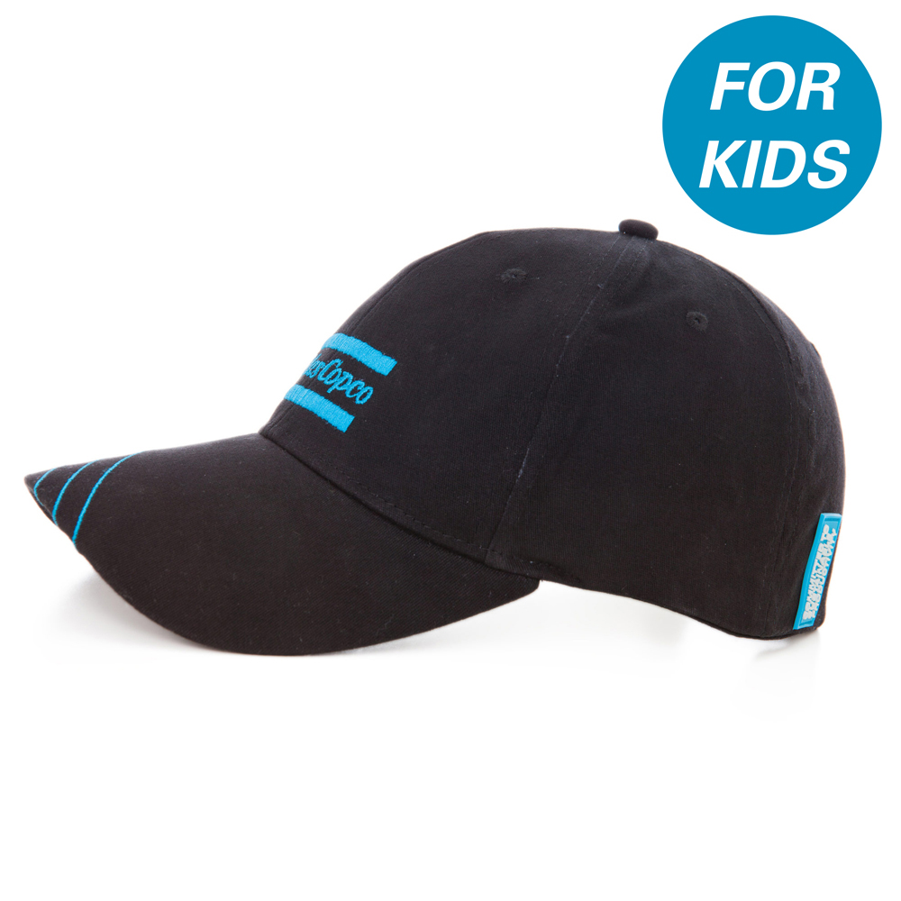 This Junior cap has been developed to obtain the best fitting possible. The fabric is made of Cotton and Spandex which makes the cap slightly elastic. An adjustable metal buckle together with the elastic fabric makes the cap versatile. The cap has a precurved visor and six panels with air ventilation. The cap fits children between 7-10 years old.