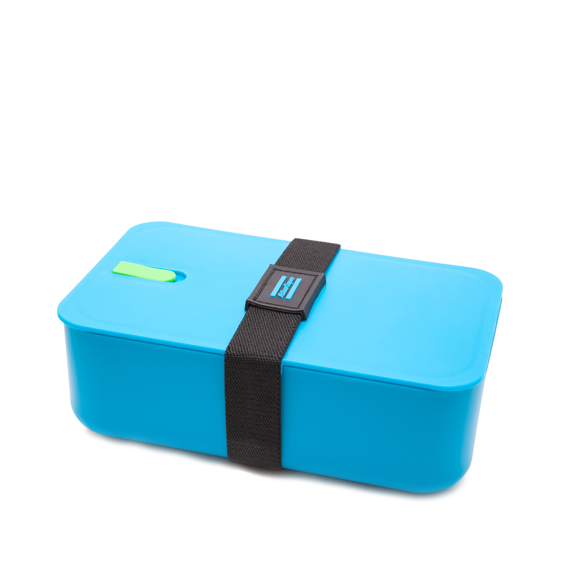 A flexible functional lunch box with a silicon edge lid for best airtight sealing. You can create two sections due to a movable divider wall. Rubber strap for secure sealing.