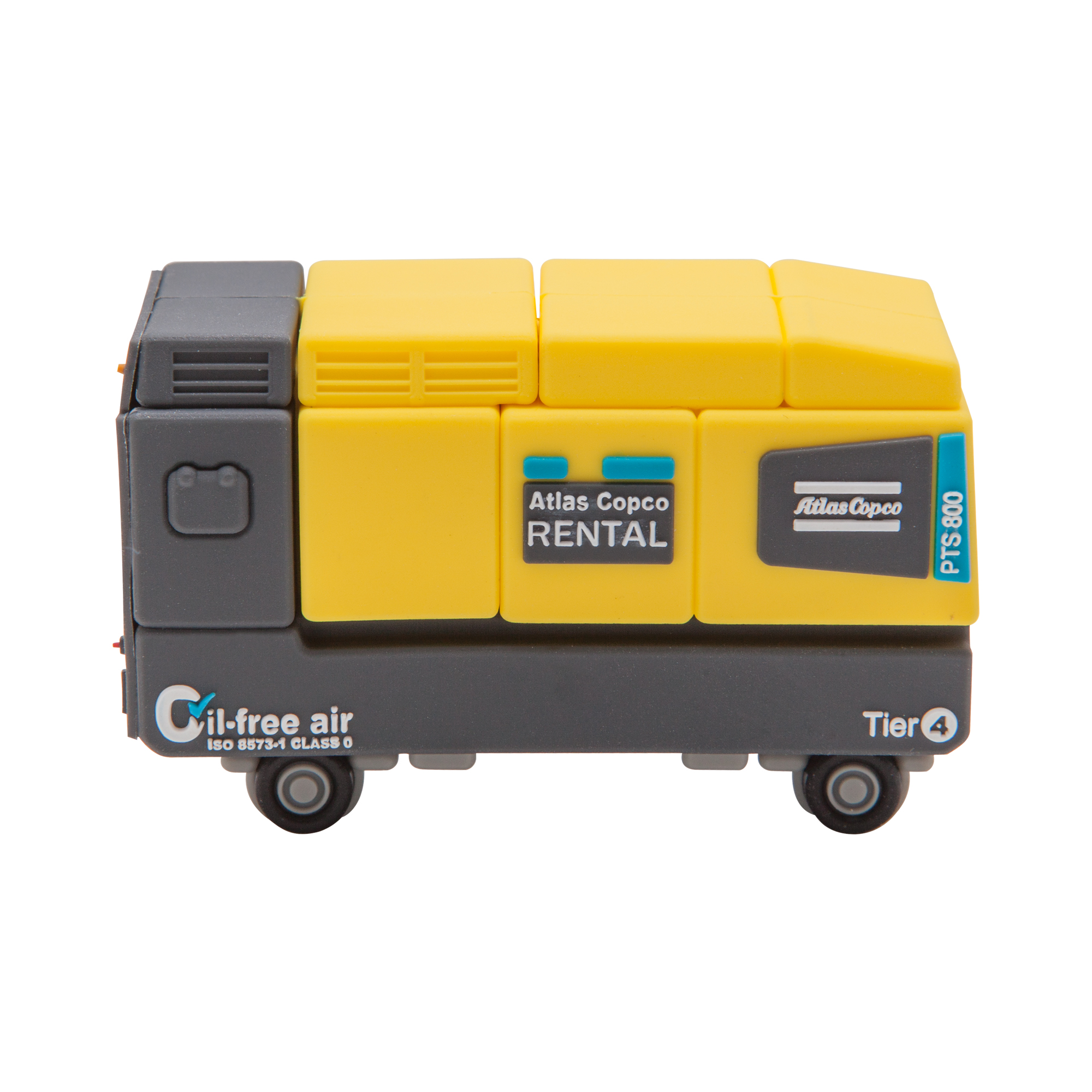 USB Memory in same shape as the Atlas Copco PTS 800. 8 GB capacity. Perfect gift for clients.