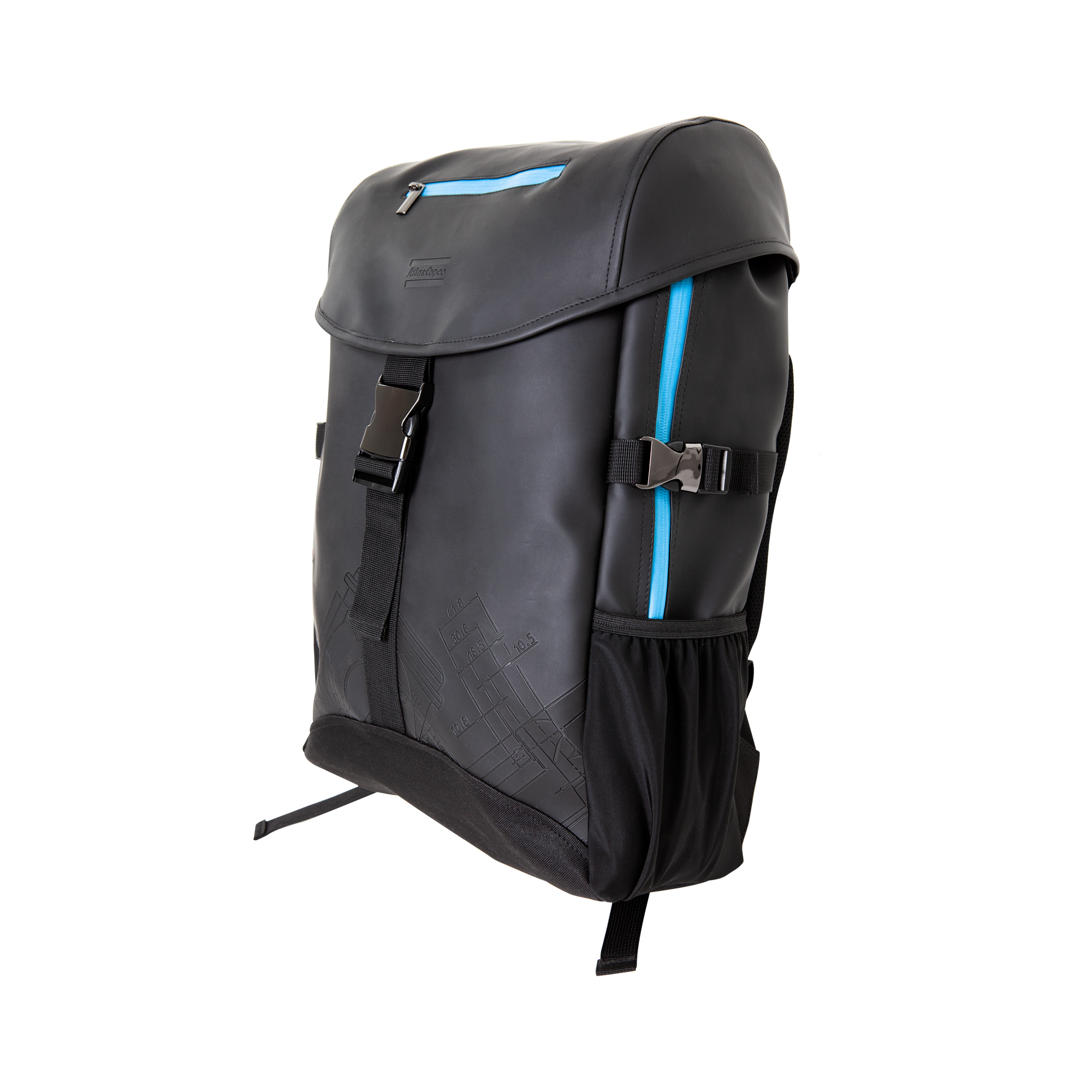 This trend conscious and weatherproof backpack is inspired by Scandinavian style and climate. It has a large 22-liter main compartment with enough room for everything you need on a busy day. The fabric is made to endure tough weather conditions. Backpack BluePrint is a modern-urban bag with impressive style and function.
