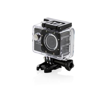 HD sport camera with 4K resolution. On the back there is a 1,5 inch TFT LCD screen to view your movies instantly in high quality. Including waterproof casing. Recording time about 70 minutes. 11 accessories included: water proof case, helmet mount, bicycle mount , clip, connector, joint, 2 band , 2 pcs tape, Micro USB charging cable Battery size: 650 mAh. Waterproof up to 30 metres.