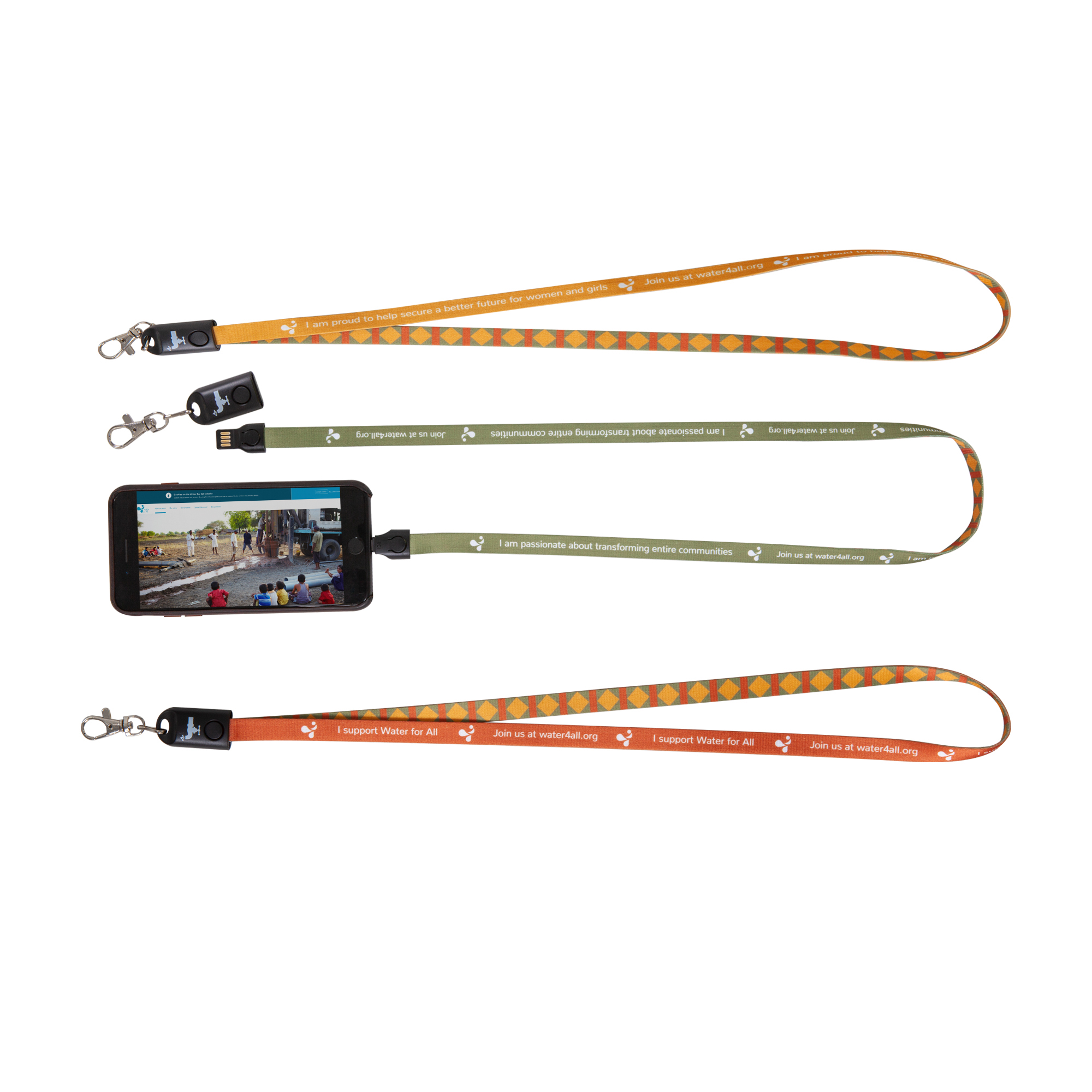 <p>A useful and stylish 2-in-1 multifunction lanyard with an integrated USB charging cable. Works for both iPhone and devices with Micro USB, all in the same contact!</p>